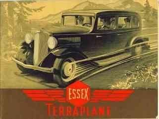 1932 Essex Terraplane Car Brochure