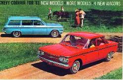 1961 Chevy Corvair Car Brochure