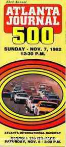 1982 Atlanta Journal 500 Brochure