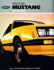 1982 Ford Mustang New Car Brochure GT GLX