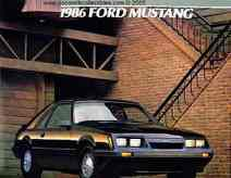 1986 Ford Mustang New Car Brochure GT SVO