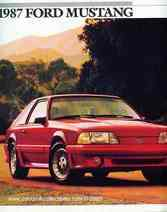 1987 Ford Mustang New Car Brochure GT 5.0