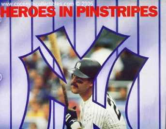 1990 New York Yankee Calendar Official