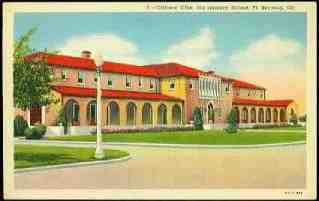 1938 Officers Club Infantry School Fort Benning Georgia Postcard