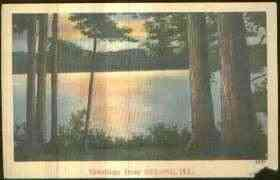 1946 Oblong Illinois Scenic View Linen Postcard