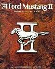 1974 Ford Mustang II New Car Brochure Mach I