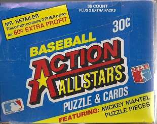 1983 Baseball Action All Stars Box of Cards
