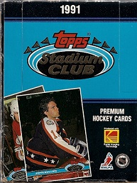 1991 Topps Stadium Club Hockey Cards Box