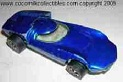 1969 Hot Wheels Turbo Fire Blue Cat #6259 Red Line Tire