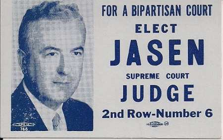 1950 Jasen Political Advertising Ink Blotter